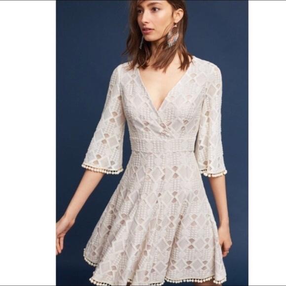 cd8f3a96f13 NWT Eliza J Fit   Flare Pom Pom Lace Dress Sz 18W